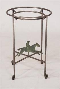 Vintage Iron Equine Theme Club Side Table Base