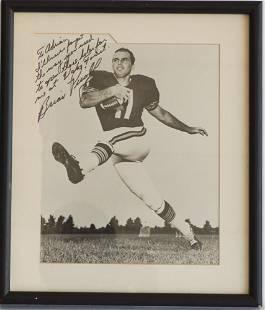Rare Brian Piccolo Signed & Dedicated Photograph