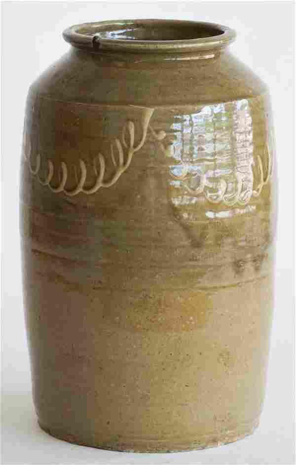 Fine Southern Decorated Stoneware Storage Jar