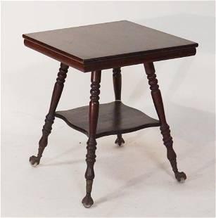 Renaissance Revival Truend Mahogany Parlor Table