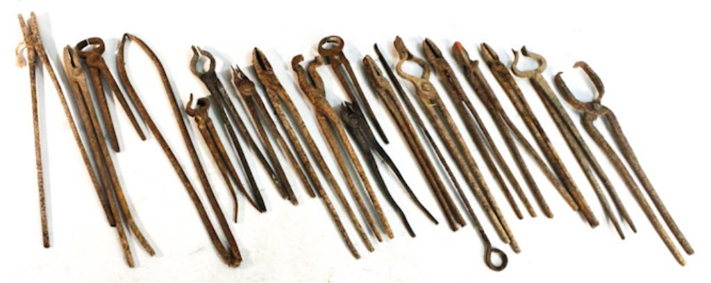 Group of nineteen Blacksmith tools