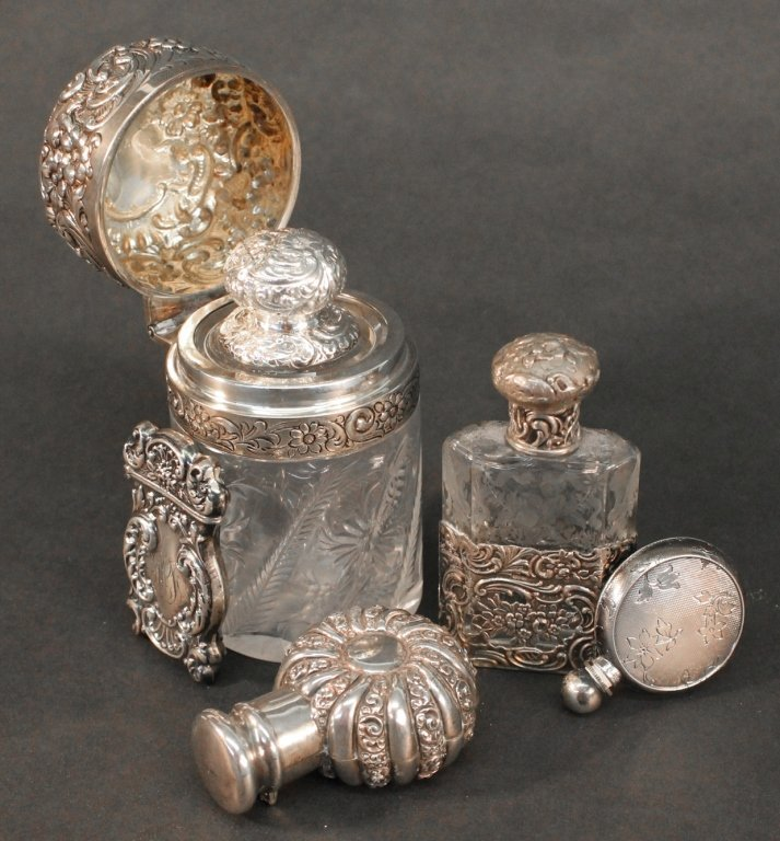 American Sterling & crystal glass objects