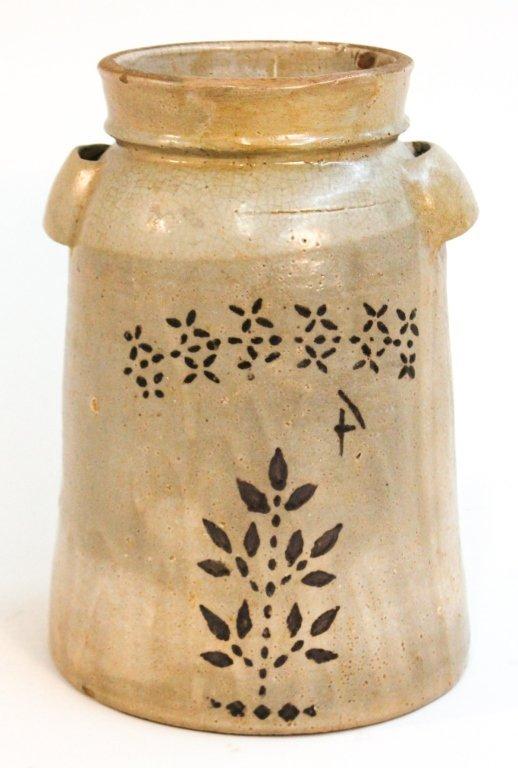 Southern stoneware decorated storage jar, Welchel