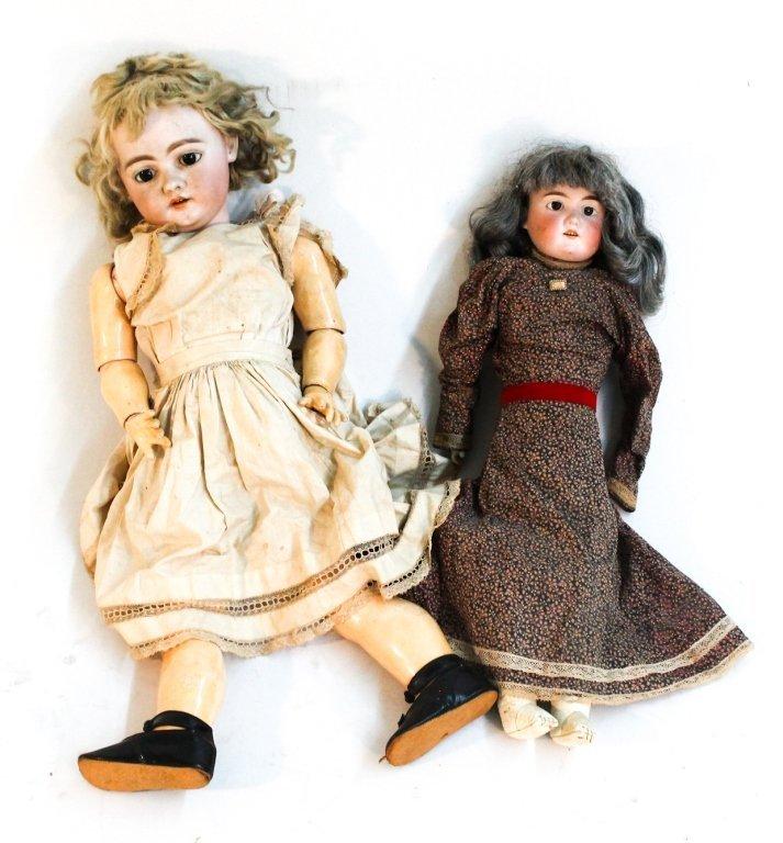 Two German porcelain dolls
