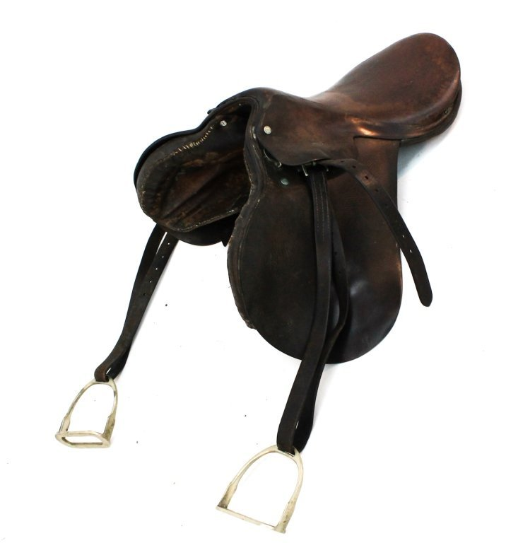 Vintage Abercrombie and Fitch leather saddle