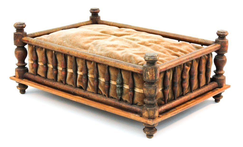 Spanish Colonial paint-decorated dog bed