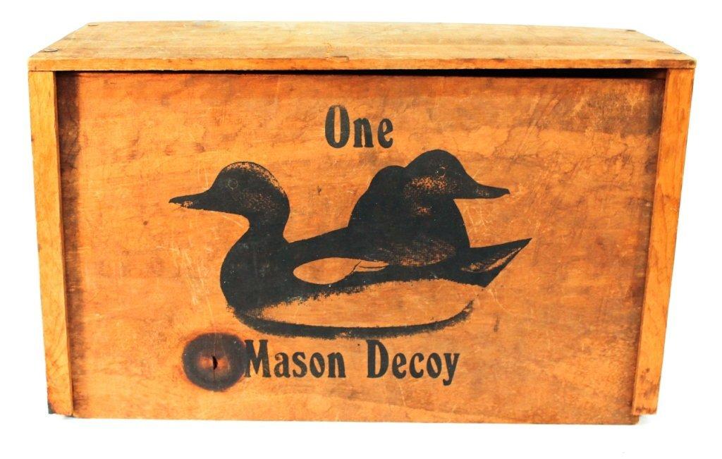 Mason duck decoy box