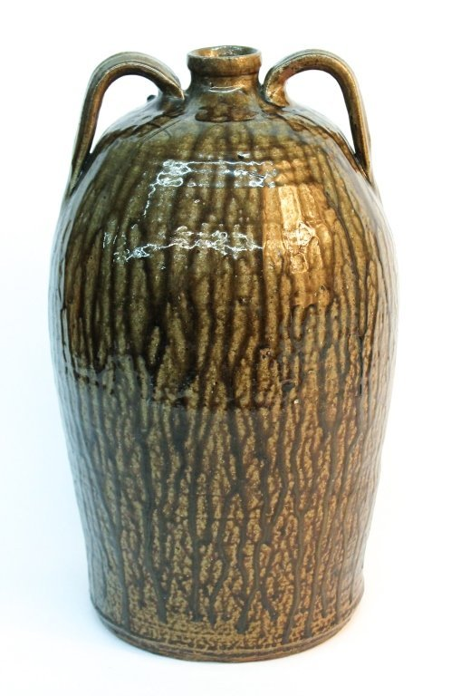 Fine Southern stoneware double handled jug