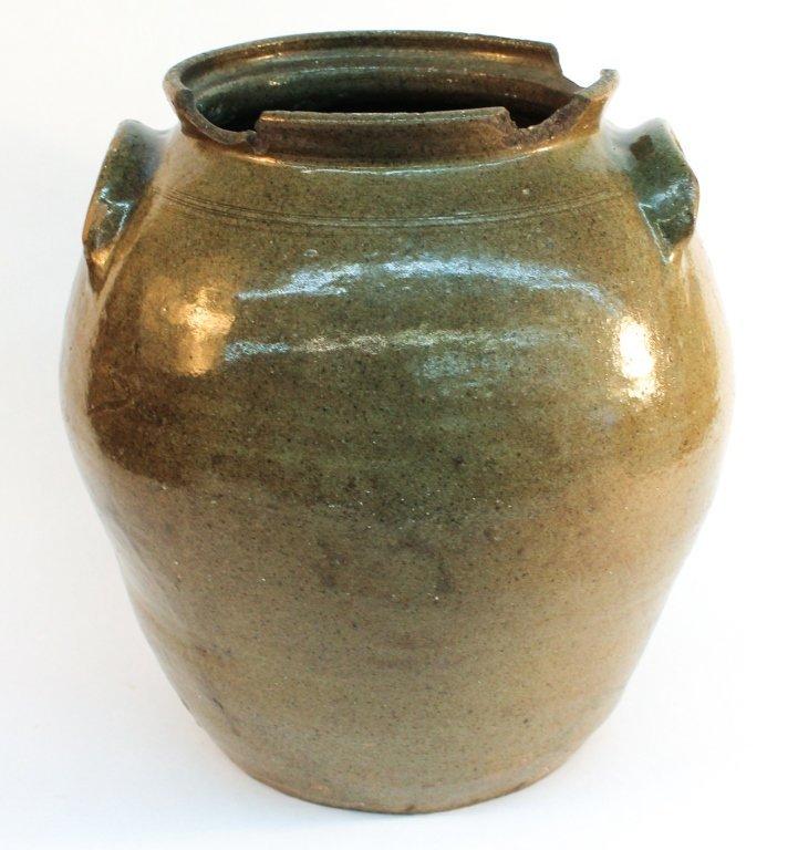 Southern stoneware storage jar, signed Dave
