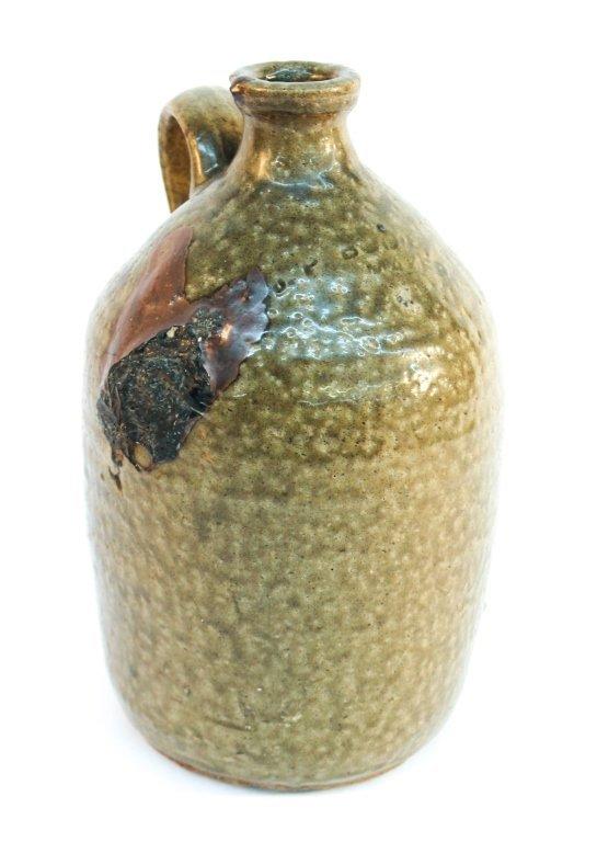 Edgefield stoneware jug, stamped JP Bodie
