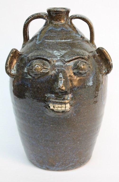 Fine Southern stoneware Burlon Craig face jug