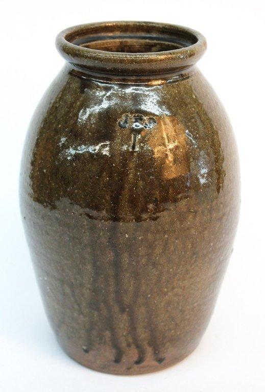 Southern Stoneware preserve jar