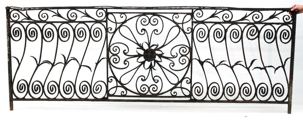 Southern wrought iron balcony panel, Charleston