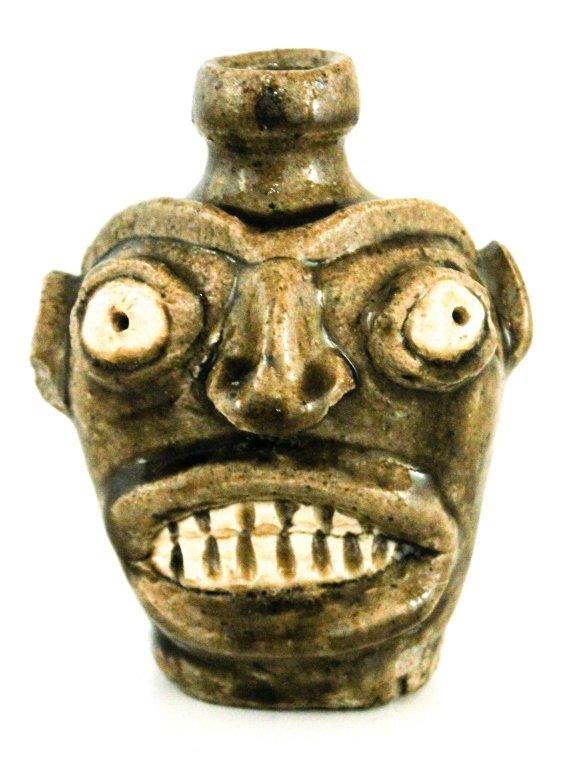 Rare stoneware face jug