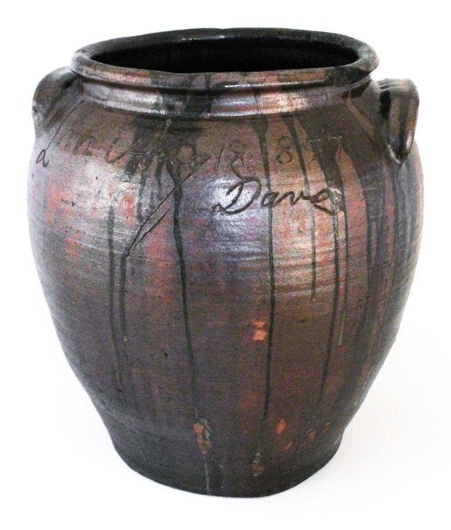 Large & important signed & dated stoneware jar
