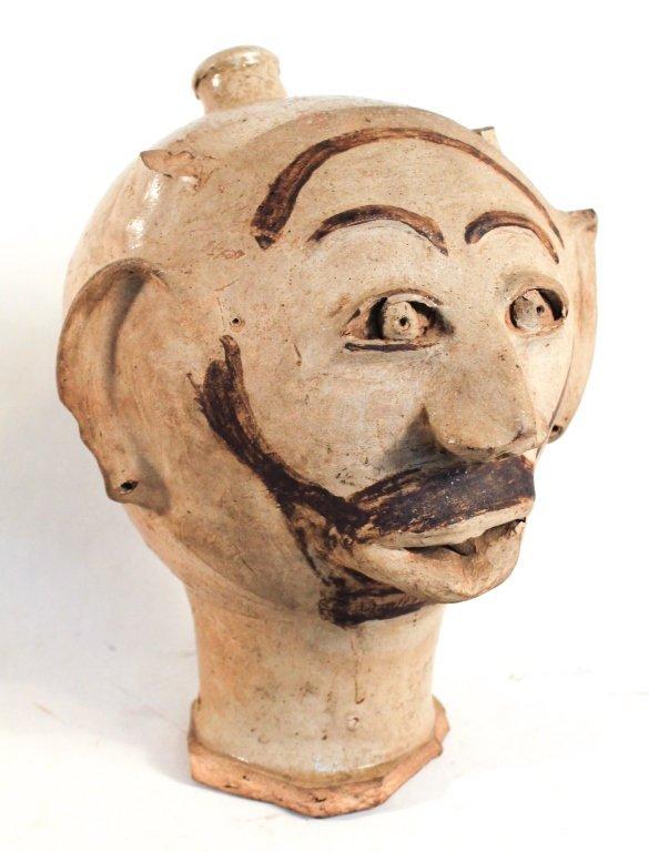 Rare & Possibly Unique Southern Stoneware Face Jug