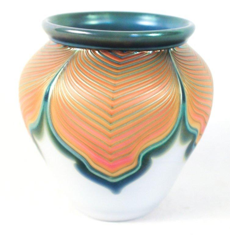 Zellique Studio Art Glass Vase, Joseph Morel