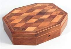 English George III Inlaid Mixed Wood Box