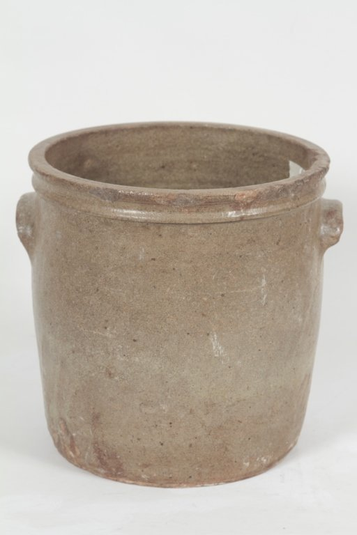 Large Marked Southern Stoneware Cream Riser