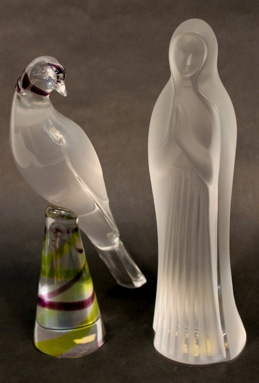 Two Lalique Crystal Figural Pieces