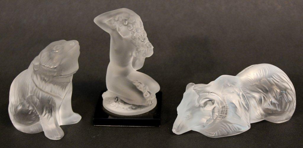 Three Lalique Crystal Figurines
