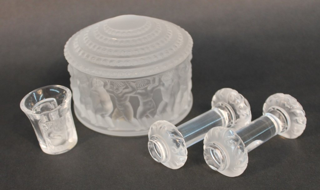 Group of Lalique France Art Crystal
