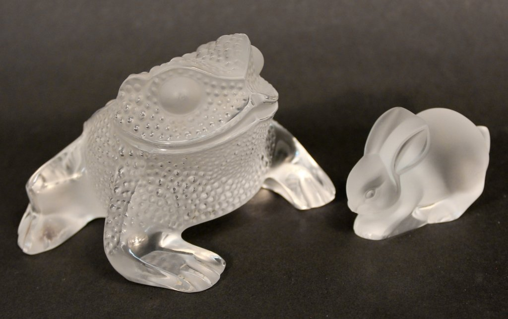Two Lalique Crystal Figurines