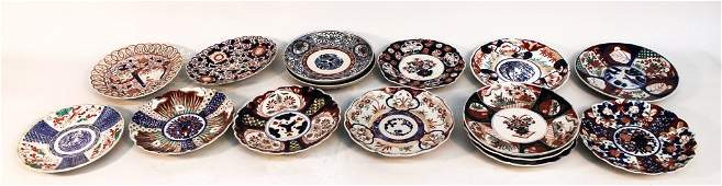 Collection of Export Porcelain Imari Plates