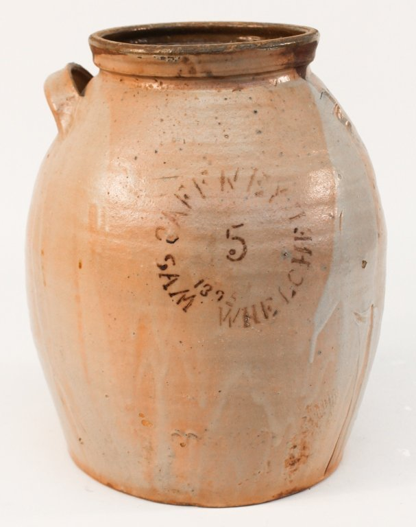 Decorated, Signed & Dated Southern Stoneware Jar