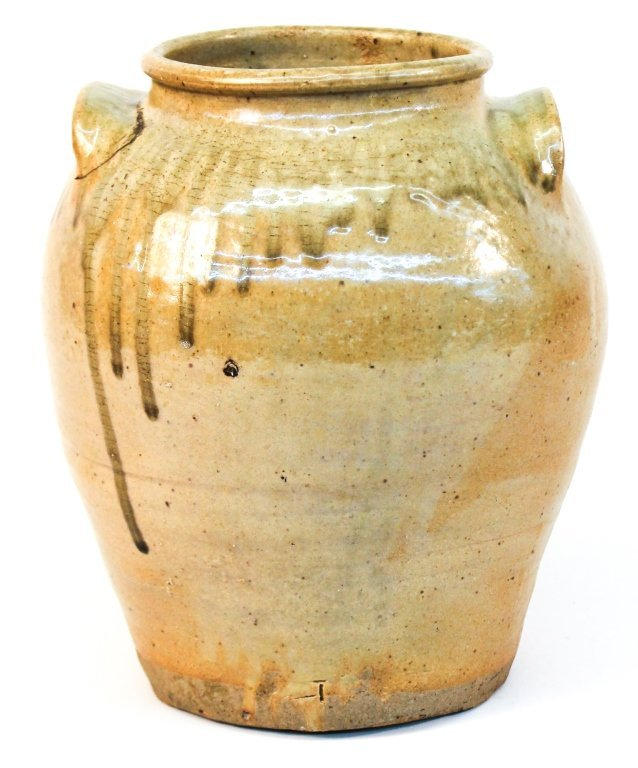 Fine and Early Southern Stoneware Storage Jar