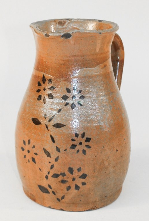 Fine Decorated Southern Stoneware Pitcher