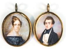 Two American School Portrait Miniatures