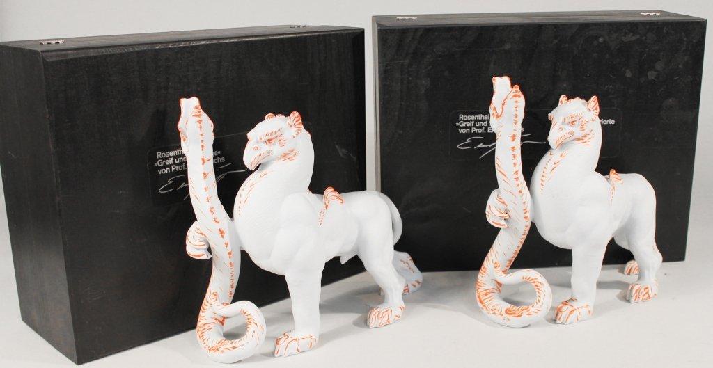 Rare Rosenthal Figural Porcelain Candle Holders