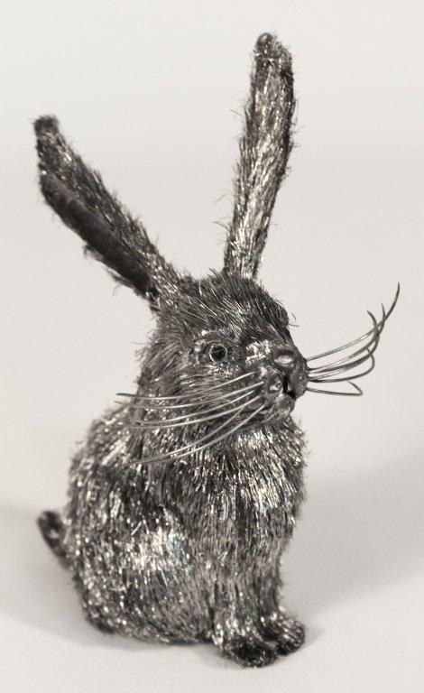 Mario Buccellati Silver Rabbit Sculpture