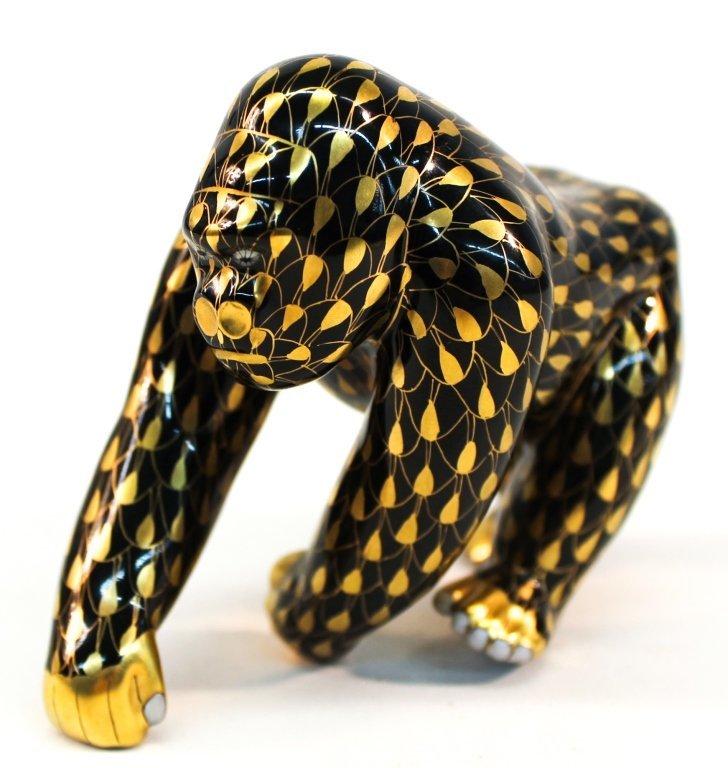 Herend Porcelain Figural Gorilla