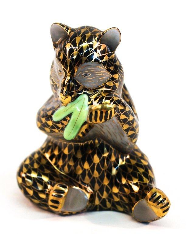 Herend Figural Porcelain Panda Bear