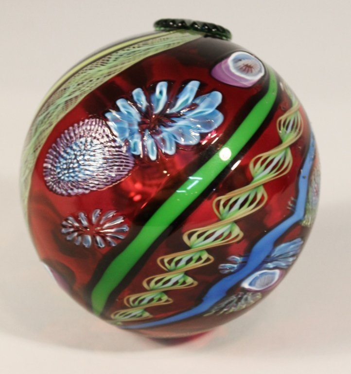 James Nowak Art Glass Orb