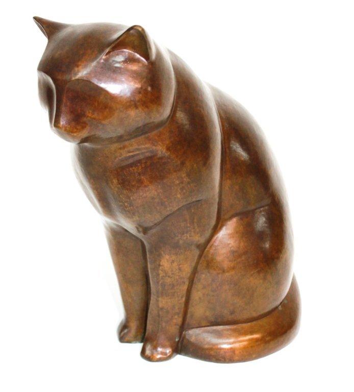 Fine Art Deco Bronze Sculpture of Cat