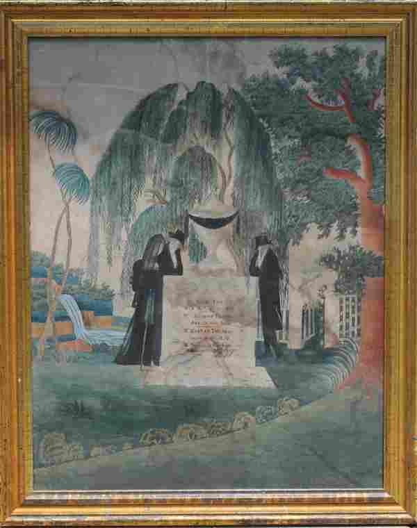 American Watercolor Mourning Memorial