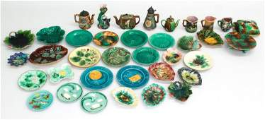 Collection Majolica Pottery Objects