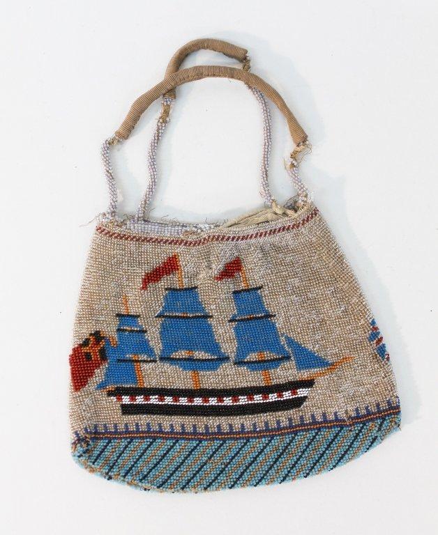 Rare Antique Native American Beaded Trade Purse