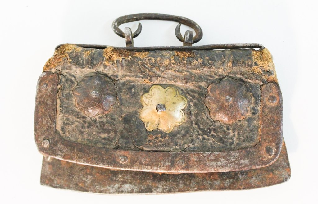 Early Handmade Leather Coin Purse