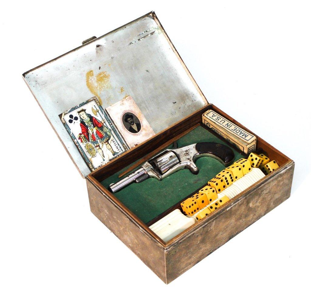 Antique Silver Gambler's Box