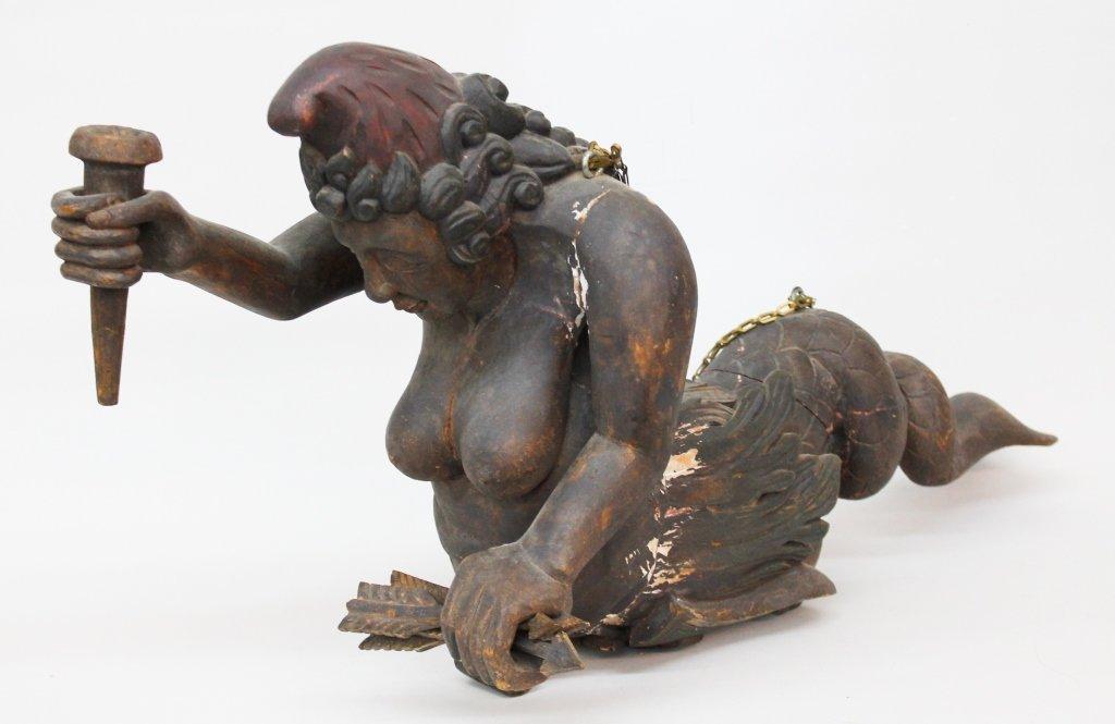 Carved & Painted Mermaid Figure