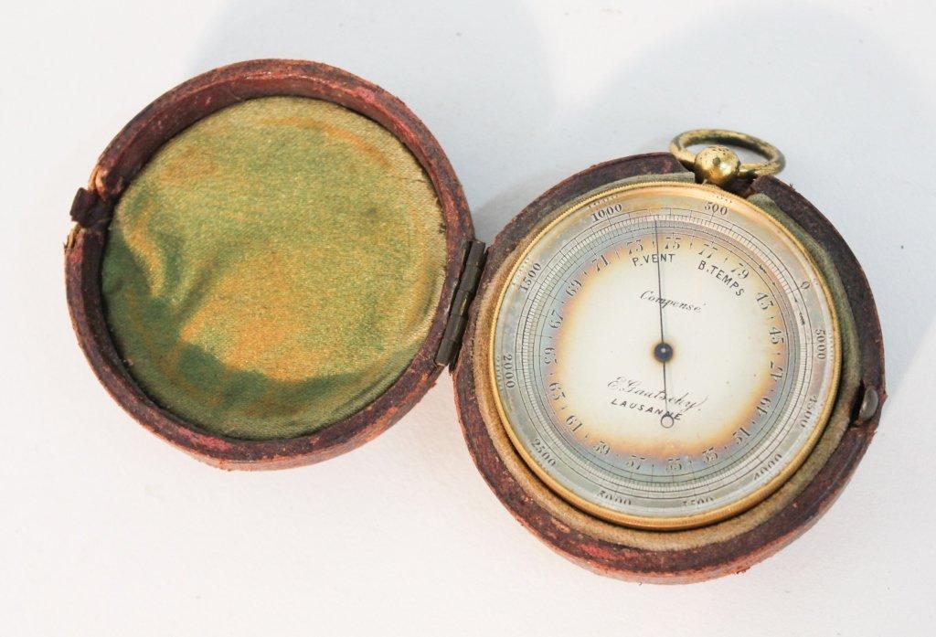Pocket Barometer by E. Gautschy