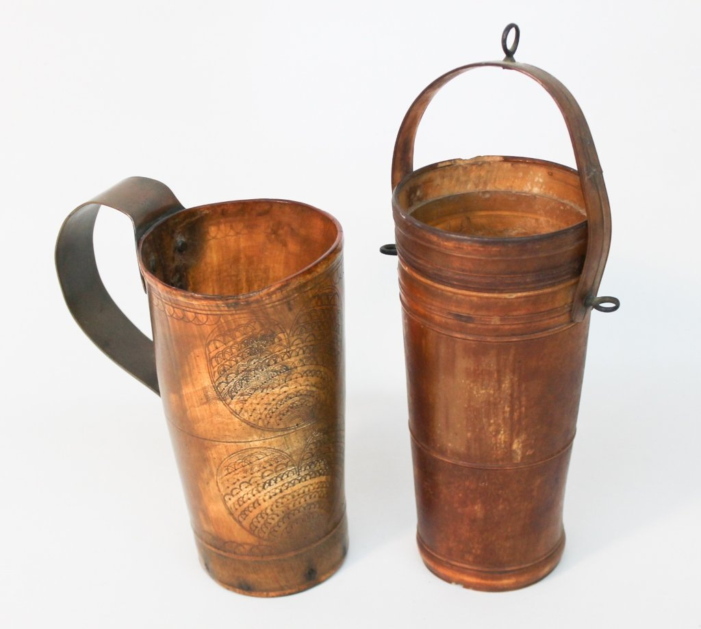 Two Horn Ware Vessels