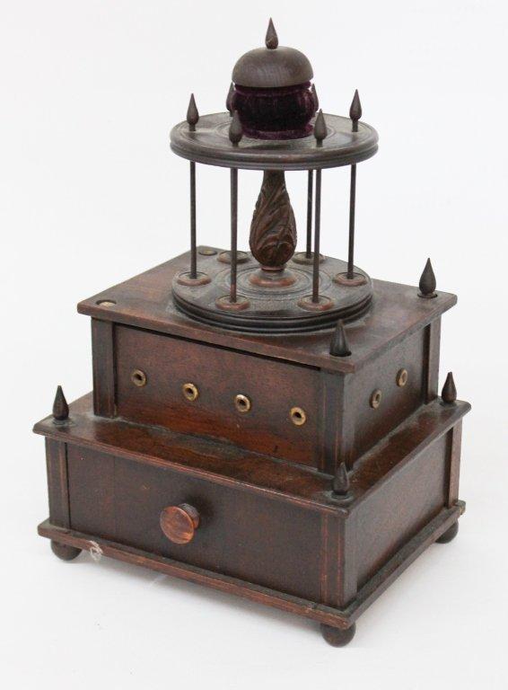 Fine Federal Inlaid Mahogany Sewing Box