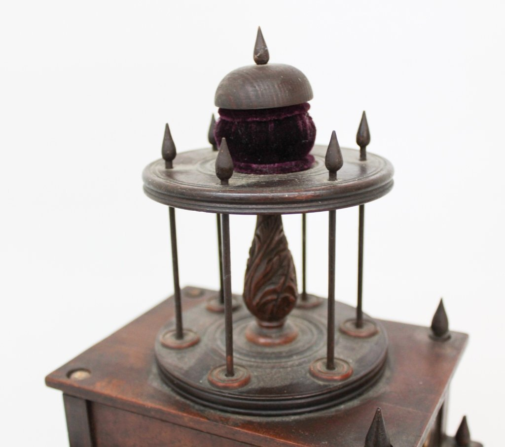 Fine Federal Inlaid Mahogany Sewing Box - 2