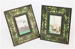 Two Tiffany Art Nouveau Bronze Picture Frames