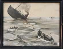 Two World War II Watercolors